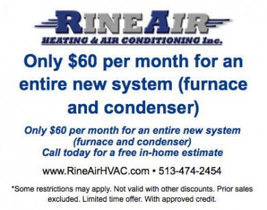 Only $60 per month for an entire new system (furnace and condenser)